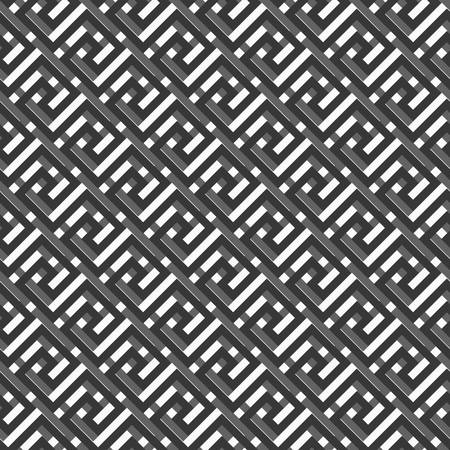 fret: Geometric line. abstract seamless pattern with Greek antique motif. Vector illustration. Abstract background for the fabric cloth, fashion, ceramic floor, ornament textile, texture. 3d effect Illustration
