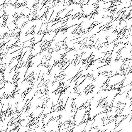 handwritten abstract text
