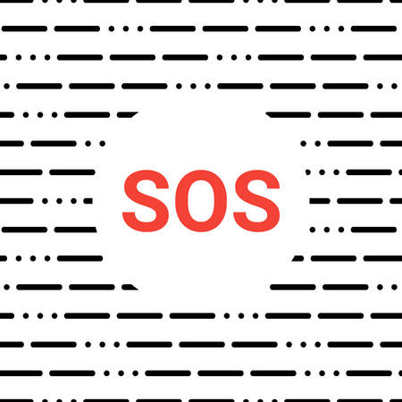 modern background with lines and dots on a white background. abstract Morse code SOS background. seamless pattern.
