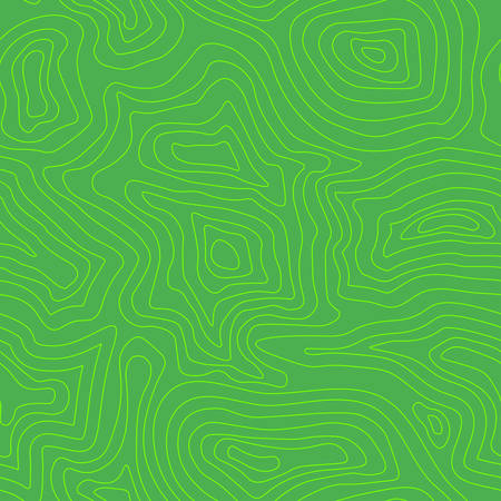 Green Topographic map of the terrain as contour. Seamless pattern. Background for geographical map. Vector illustration