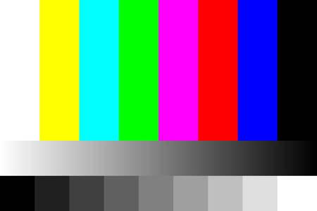 Telewizor nie ilustracja sygnału. Ilustracje wektorowe