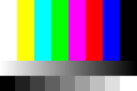 Tv geen signaalillustratie. Stock Illustratie