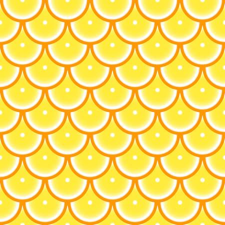 Pattern with orange  イラスト・ベクター素材