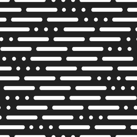 modern background with lines and dots on a black background. abstract Morse code SOS background. seamless pattern. vector illustration for authorization, Cryptography, web, programming, development