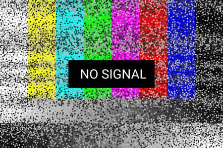 TV no signal. Rgb static screen.