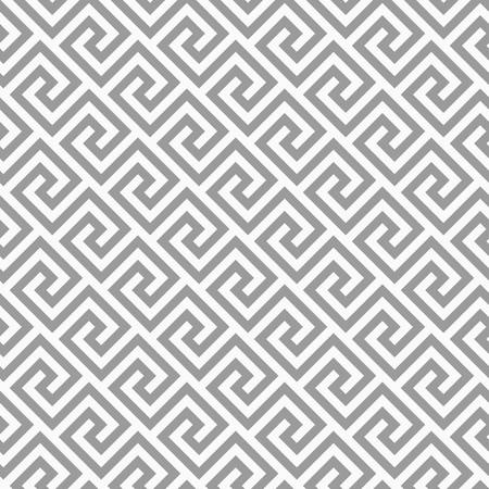 Geometric line. abstract seamless pattern with Greek antique motif. Vector illustration. Abstract background for the fabric cloth, fashion, ceramic floor, ornament textile, texture. Grey color