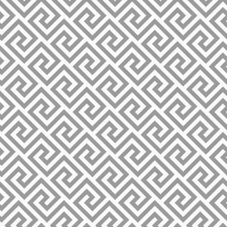 Ligne géométrique. modèle sans couture abstrait avec motif antique grec. Illustration vectorielle Abstrait pour le tissu tissu, mode, sol en céramique, textile d'ornement, texture. Couleur grise Banque d'images - 90274885