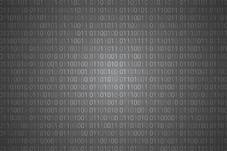 Binary code pattern. digital technology background. abstract matrix. programming computer code. technology concept. vector illustration