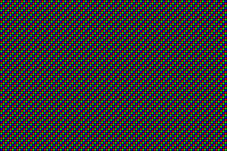 RGB Screen dots seamless pattern. Analog display television. Close Up Texture. Vector