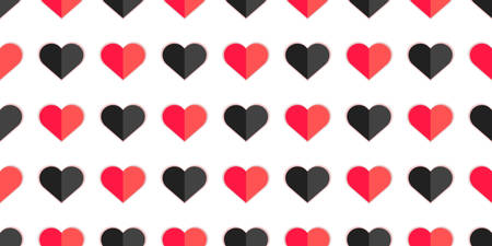 Heart seamless pattern for valentine background, valentine card