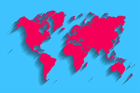Vector de mapa del mundo fondo de color azul con sombra world map vector blue color background with shadow gumiabroncs Images