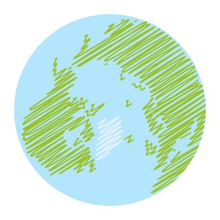 World globe icon. vector earth logo. web global simbol illustration Vectores