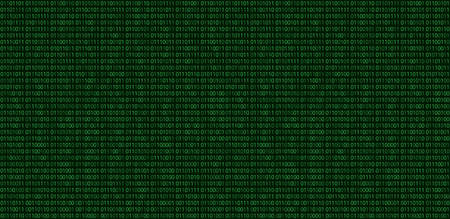 Binary code pattern. Green seamless digital technology background. abstract matrix. programming computer code. technology concept. vector illustration