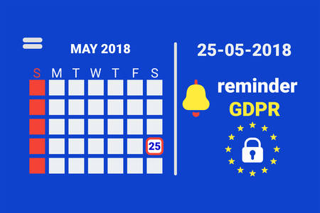 GDPR - General Data Protection Security technology background.   Vector illustration