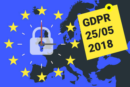 GDPR - General Data Protection Regulation. GDPR reminder. Vector 向量圖像