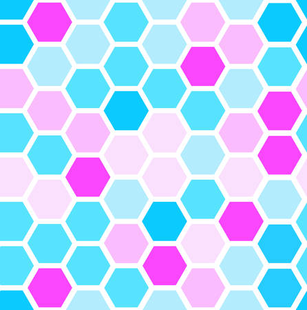 hexagon seamless pattern. geometric background. abstract modern tile. vector illustration. design for the background display, flyers, brochures fabric, clothes, texture, textile pattern. girl color