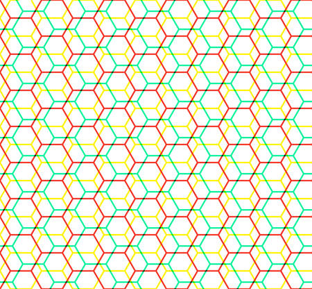hexagon seamless pattern. grid of hexagons. abstract modern tile. vector illustration. design for the background display, flyers, brochures fabric, science, technology, textile pattern. vivid color