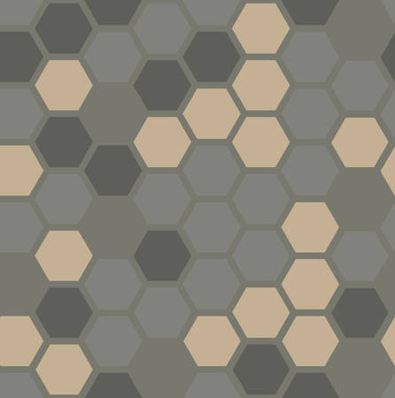 hexagon seamless pattern. geometric background. camouflage for the dust. vector illustration. design for the background display, brochures, fabric, clothes, texture, textile pattern, army  Иллюстрация