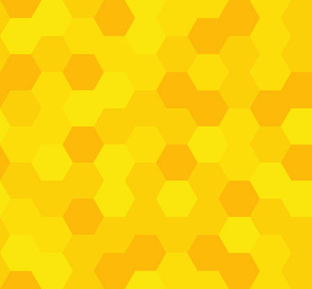 Grid seamless pattern. geometric background. abstract honeycomb. vector illustration. design for the background display, flyers, brochures fabric, clothes, texture, textile pattern. yellow color Ilustrace