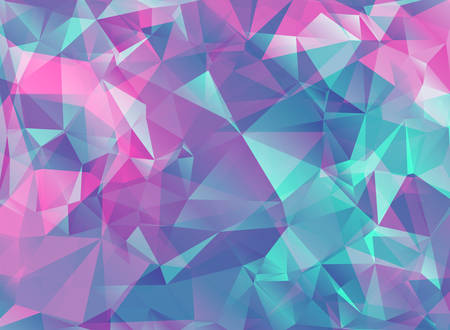 Abstract modern background with crystals in bright colors. Pink background. Can be used for brochures and design products. Vector illustration