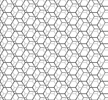 hexagon seamless pattern. islamic background. abstract modern tile. vector illustration. design for the background display, flyers, brochures fabric, clothes, texture, textile pattern. black color