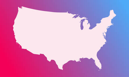 vector map of usa in a modern style. white country on a bright background. vector illustration