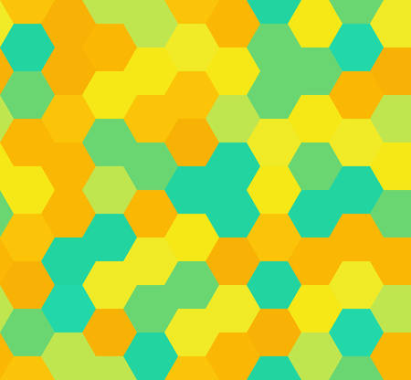 hexagon seamless pattern. geometric background. abstract modern tile. vector illustration. design for the background display, flyers, brochures fabric, clothes, texture, textile pattern. orange color Иллюстрация