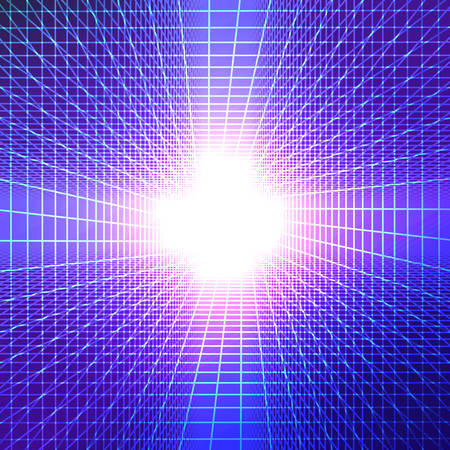 The tunnel with light at the end. futuristic background with bright color transitions. vector illustration