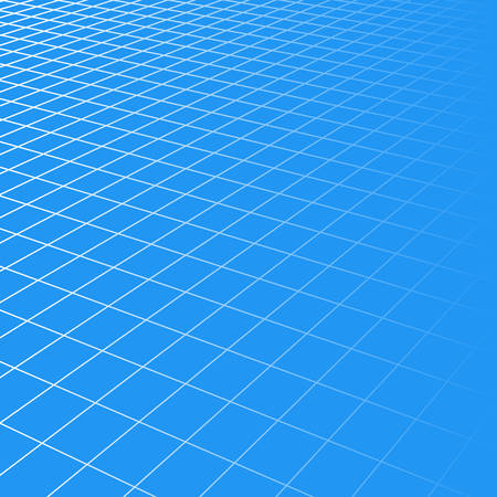 blue grid squares in perspective. abstract background for design technology, programming, information Technology, media, game. Vector illustration Иллюстрация