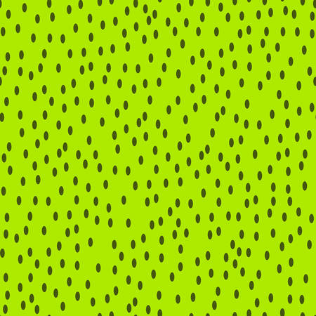 seamless kiwi fruit seeds pattern on green background. vector illustration for the background display, website, flyers, brochures and childrens fashion in a modern style Иллюстрация