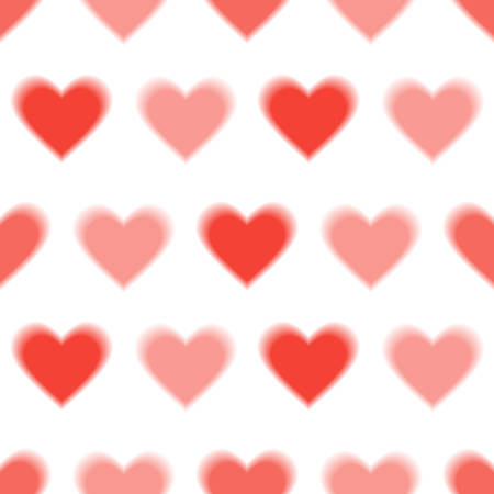 Love Abstract Background with black and red Hearts. Defocused Seamless pattern. Vector Illustration