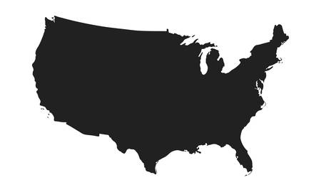 vector map of usa in a modern style. blackcountry on a light white background. vector illustration