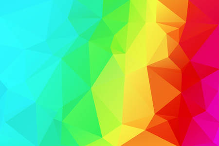 Abstract background with triangles in bright colors. Vector illustration. Rainbow Background polygon for brochures, covers, flyers, invitations, presentations. Illustration