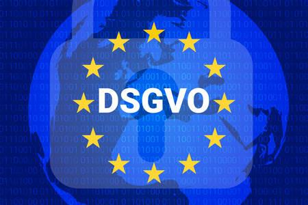 dsgvo - german Datenschutz-Grundverordnung. gdpr - General Data Protection Regulation. vector illustration Stockfoto - 100991807