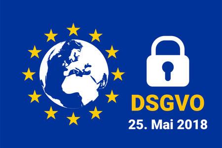 dsgvo - german Datenschutz-Grundverordnung. gdpr - General Data Protection Regulation. vector illustration Фото со стока - 100991810