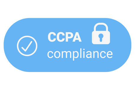 CCPA - California Consumer Privacy Act.  USA data security compliance icon. Consumer protection for residents of California, United States.