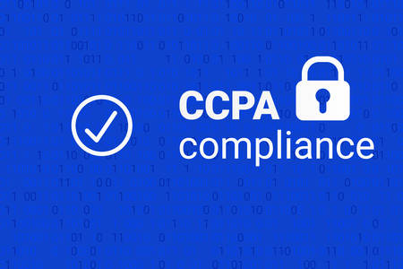 CCPA - California Consumer Privacy Act. vector. Consumer protection for residents of California, United States. USA data security compilance icon.