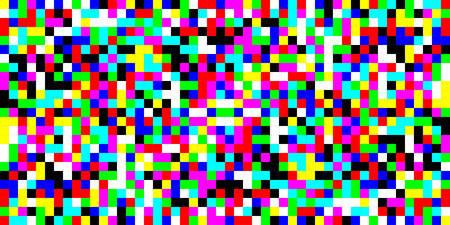 Pixel glitch pattern. Vector seamless background. Abstrac glitch texture design. Retro geometric illustration. Game wallpaper. Simple repeat