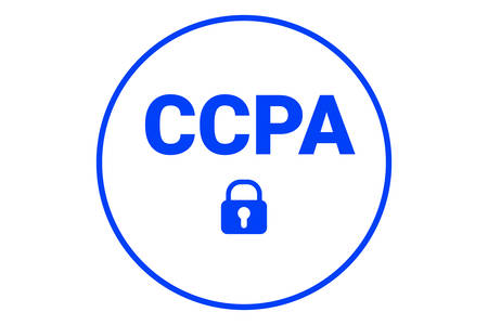 CCPA - California Consumer Privacy Act. vector logo. Consumer protection for residents of California, United States. USA data security icon.