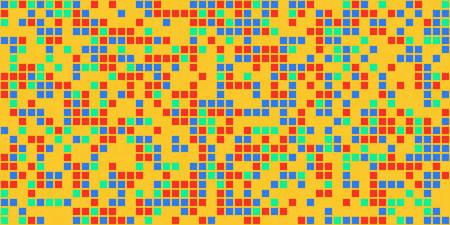 Pixel pattern. Vector seamless background. Abstrac texture design. Retro geometric illustration. Game wallpaper. Simple repeat square Illusztráció