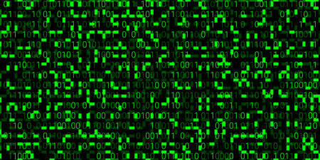 modern background with green numbers on a black background. seamless pattern. vector illustration. abstract matrix background