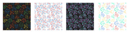 frame geometric shapes. seamless pattern. Abstract design texture for print