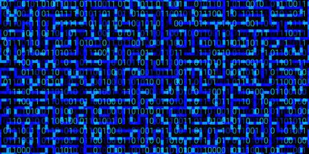 background with blue numbers on a black background. seamless pattern. vector illustration. abstract matrix background Illusztráció