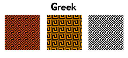 greek key pattern. seamless vector. Abstrac texture design. antique geometric illustration. history wallpaper. Simple repeat textile.