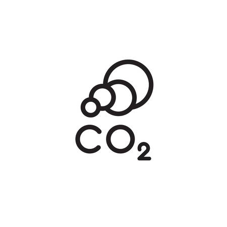 icon symbol CO2 clouds - the cause of global warming and environmental pollution and smog in cities. minimalistic  . vector