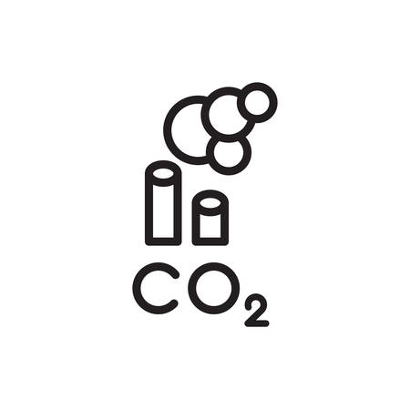 icon symbol CO2 clouds - the cause of global warming and environmental pollution and smog in cities. minimalistic  . vector illustration Stock fotó - 147494195
