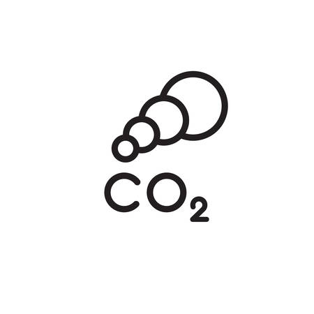 icon symbol CO2 clouds - the cause of global warming and environmental pollution and smog in cities. minimalistic black logo. vector