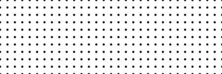 texture for note or notebook. black sheet paper. white mesh pattern. seamless Polka dot background. vector illustration.