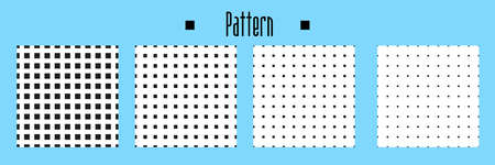 seamless square background. vector texture for note or notebook. black sheet paper. square pattern Stock Illustratie