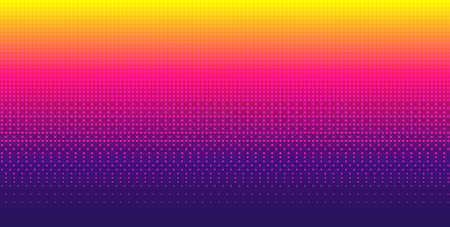 Sky pixel background gradient. Seamless pattern. Retro 8-bit game wallpaper. Bright vector backdrop. Иллюстрация